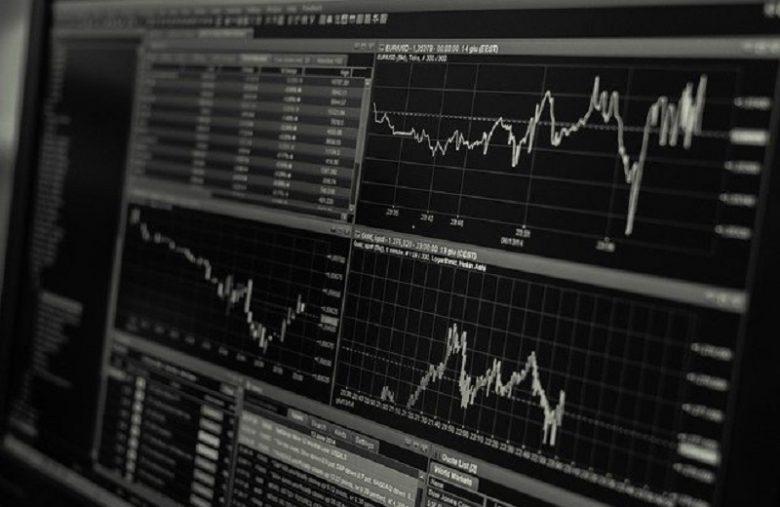 tela com cotações da bolsa de valores