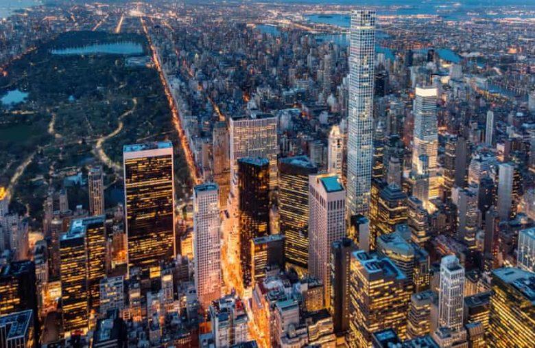 prédio de luxo em Manhattan