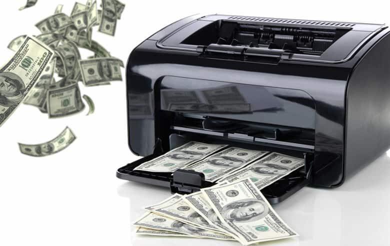 impressora de dinheiro